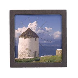 Europe, Greece, Mykonos. A striking white Gift Box