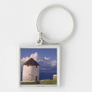 Europe, Greece, Mykonos. A striking white Keychain