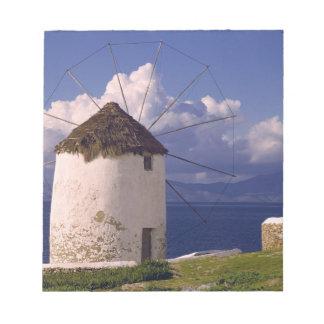 Europe, Greece, Mykonos. A striking white Memo Pad