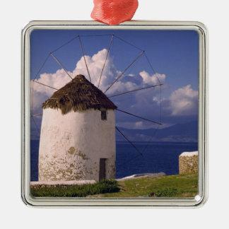 Europe, Greece, Mykonos. A striking white Christmas Ornament