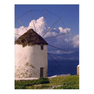 Europe, Greece, Mykonos. A striking white Postcard