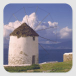 Europe, Greece, Mykonos. A striking white Sticker