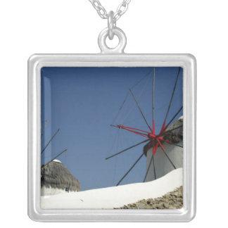 Europe, Greece, Mykonos. Square Pendant Necklace