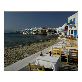 Europe, Greece, Mykonos. Views of the seaside Poster