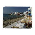 Europe, Greece, Mykonos. Views of the seaside Rectangular Photo Magnet