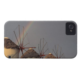 Europe, Greece, Mykonos. wind mill with rainbow Case-Mate iPhone 4 Case
