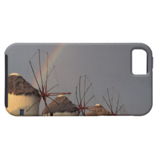 Europe, Greece, Mykonos. wind mill with rainbow iPhone SE/5/5s Case