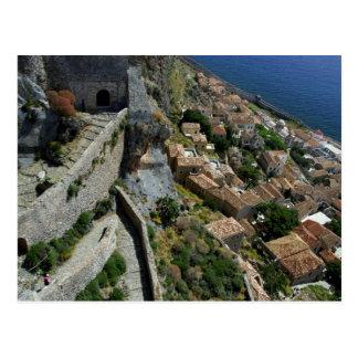 Europe, Greece, Peloponnese, Monemvasia Postcard
