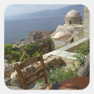 Europe, Greece, Peloponnese, Monemvasia (single Square Sticker