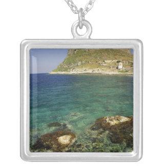 Europe, Greece, Peloponnese, Monemvasia. The Square Pendant Necklace