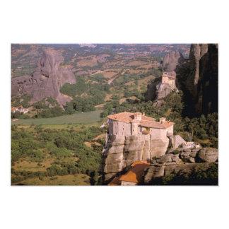 Europe, Greece, Thessaly, Meteora, Kastraki. Photo Print