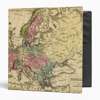 Europe Hand Colored Atlas Map 2 3 Ring Binder