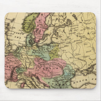 Europe Hand Colored Atlas Map 2 Mouse Pad