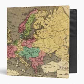 Europe Hand Colored Atlas Map Binder
