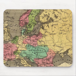 Europe Hand Colored Atlas Map Mouse Pad