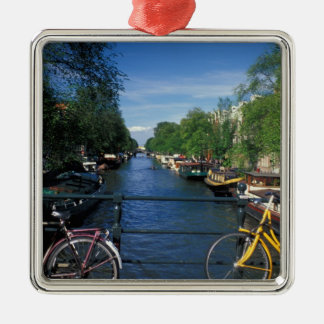Europe, Holland, Amsterdam, yellow bicycle and Christmas Tree Ornament