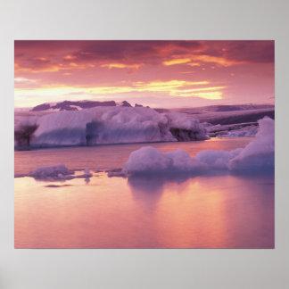 Europe, Iceland, Jokulsarlon lagoon Poster