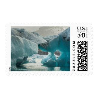 Europe, Iceland, JokUSArlon. Iceberg Formations Postage