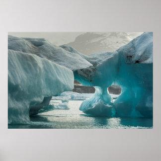 Europe, Iceland, JokUSArlon. Iceberg Formations Print