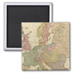 Europe Illustrated Map 2 Inch Square Magnet