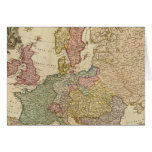 Europe Illustrated Map Card