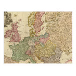 Europe Illustrated Map Postcard