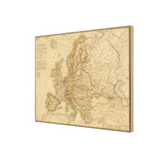 Europe in 1789 canvas print