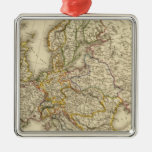 Europe in 1789 christmas tree ornament
