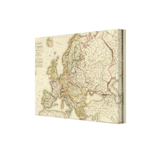 Europe in 1789 gallery wrapped canvas