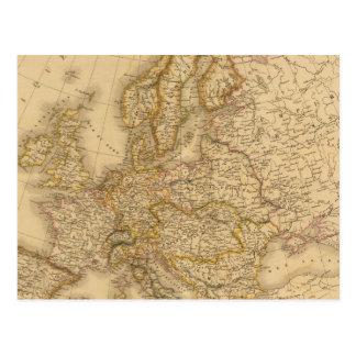 Europe in 1789 postcard