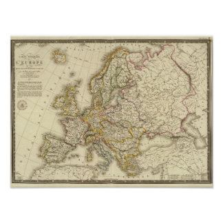 Europe in 1789 poster