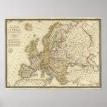 Europe in 1789 print