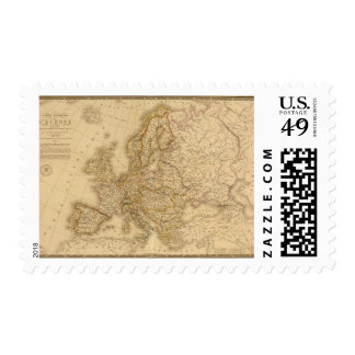 Europe in 1789 stamp