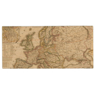 Europe in 1813 2 wood flash drive