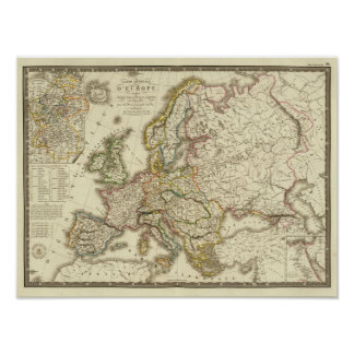 Europe in 1813 poster