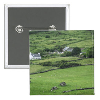 Europe, Ireland, Kerry County, Ring of Kerry. 2 Inch Square Button