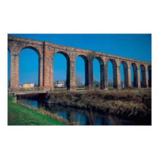 Europe, Italy. Aquaduct near Lucca. Print