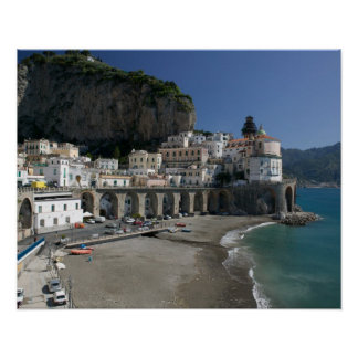 Europe, Italy, Campania, (Amalfi Coast), Amalfi: Print