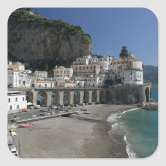 Europe, Italy, Campania, (Amalfi Coast), Amalfi: Square Sticker
