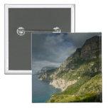 Europe, Italy, Campania (Amalfi Coast) Positano: 2 Inch Square Button