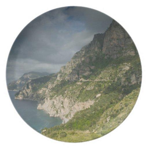 Europe, Italy, Campania (Amalfi Coast) Positano: Dinner Plate