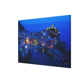 Europe, Italy, Cinque Terre, Vernazza. Hillside Gallery Wrap Canvas