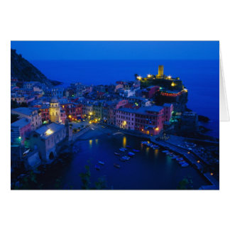 Europe, Italy, Cinque Terre, Vernazza. Hillside Greeting Card