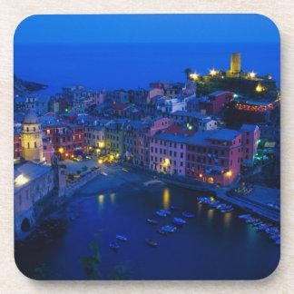 Europe, Italy, Cinque Terre, Vernazza. Hillside Drink Coasters