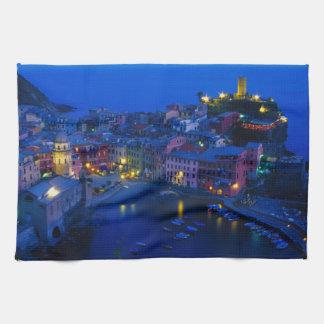 Europe, Italy, Cinque Terre, Vernazza. Hillside Towels