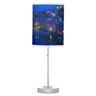 Europe, Italy, Cinque Terre, Vernazza. Hillside Lamp