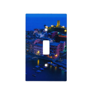 Europe, Italy, Cinque Terre, Vernazza. Hillside Switch Plate Covers