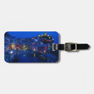 Europe, Italy, Cinque Terre, Vernazza. Hillside Travel Bag Tag