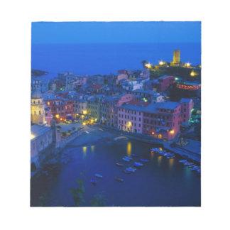 Europe, Italy, Cinque Terre, Vernazza. Hillside Notepad