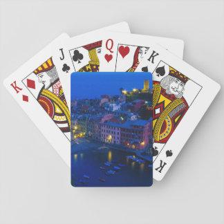Europe, Italy, Cinque Terre, Vernazza. Hillside Poker Deck